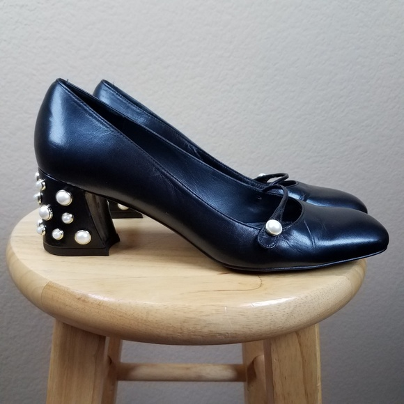 af6c711ffc Stuart Weitzman Shoes | Pearl Heeled Mary Jane Sz 85 | Poshmark